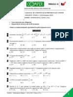 Matematica EtapaI 14-15 ClasaVI Subiect