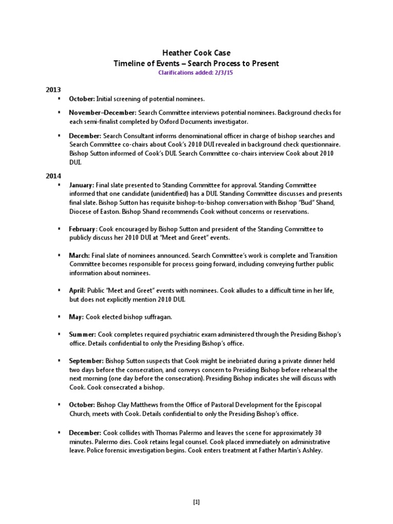 Timeline of Events Heather Cook Case   Misconduct (5 2K views)