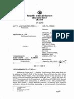 Atty. Risos-Vidal Vs. COMELEC and Joseph Estrada; Main Decision by Justice Teresita Leonardo-de Castro