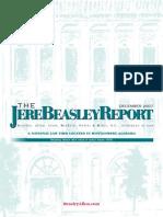 The Jere Beasley Report, Dec. 2007