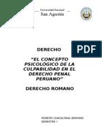 Concepto psicológico de la Culpa en el Derecho Penal Peruano