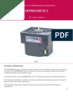 Installation & Maintenance Instructions SEPREMIUM 2