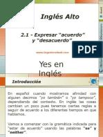 """2.1 - Expresar """"Acuerdo"""" y """"Desacuerdo"""" Con Otras Personas en Inglés"""