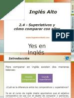 2.4.- Reglas Para Formar Adjetivos Superlativos y Como Comparar Con Ellos