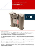 Instruções de montagem e manutenção SEPREMIUM 5