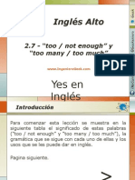 "2.7.- Como Usar ""Too Not Enough"" y ""Too Many Too Much"""