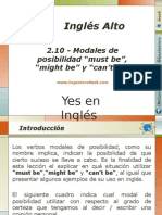 "2.10.- Modales de Posibilidad ""Must Be"", ""Might Be"" y ""Can't Be"""