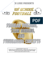 HS Football Program Building, Team Bonding and Fundraising Concepts, 2015
