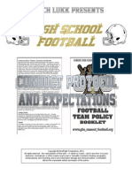 HS Football Conduct Protocol and Expectation, 2015