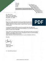 CSRA RESA Letter of Appreciation