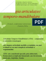 Patologia Articulaţiei Temporo-mandibulare