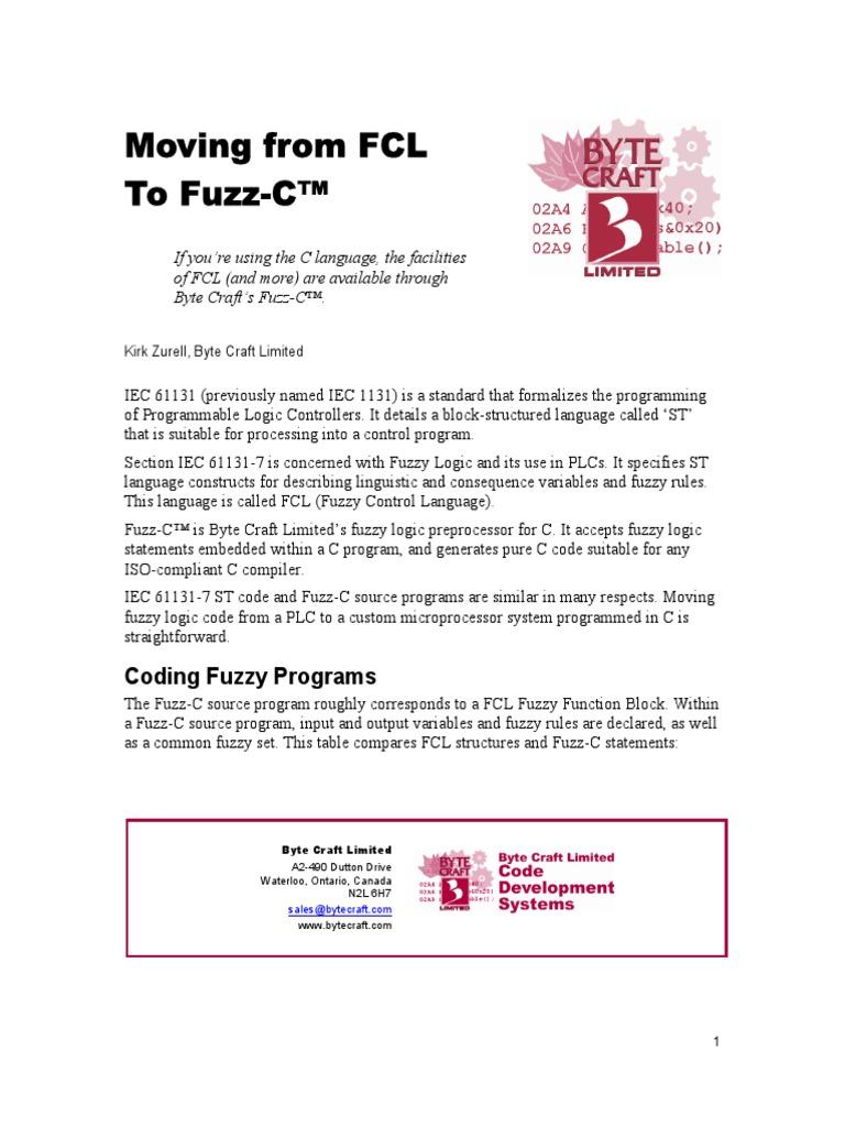 Fuzzy_C | C (Programming Language) | Fuzzy Logic