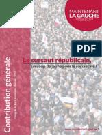 Contribution Générale de Maintenant La Gauche au Congrès de Poitiers du Parti Socialiste