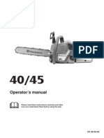 Husqvarna 40-45 Gas Chain Saw Operator's Manual - ManualsOnline.com