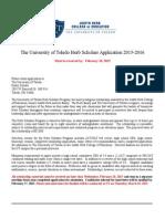 Herb Scholar Application - 2015-2016