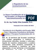 Constitucion Del Ecuador y La Regulación de Las Telecomunicaciones