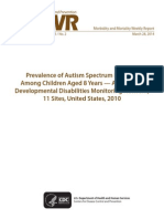 Prevelance of autism in United States