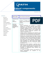 Use of Blood Components