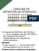EL LENGUAJE DE DEFINICION DE INTERFACES, CALLBACKS, DII