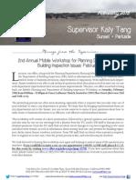 Supervisor Tang's February Newsletter