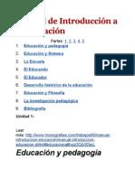 Manual de Introducción a La Educación