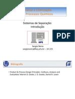 Sistemas de Separação I - Introdução PDF