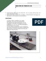 determinación indices de refracción