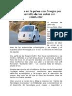 Uber Entra en La Pelea Con Google Por El Desarrollo de Los Autos Sin Conductor