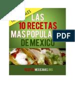 Recetasmexicanas.org - 10 Recetas Mas Populares