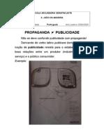 Ficha Informativa - Publicidade vs Propaganda
