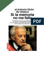 Giron de Velasco, Jose Antonio - Si La Memoria No Me Falla