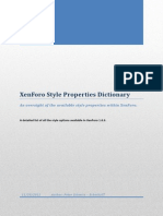 XF Style Properties Dictionary 1.0.0