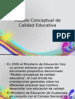 Modelo Conceptual de Calidad Educativa
