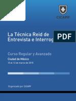 Curso Técnica Reid de Entrevista e Interrogatorrio en Mexico Marzo 10 2015