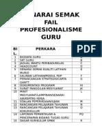 Senarai Semak Fail Profesionalisme Guru