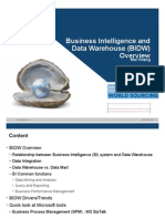 Business Intelligence and Data Warehouse Overview