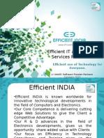 Efficient INDIA Company Profile - Training & Workshops