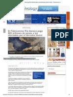 04-02-15 El Fideicomiso Río Sonora paga 800 millones de pesos a los afectados por el derrame tóxico.
