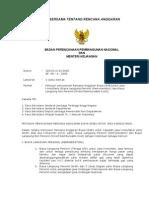Surat Edaran Bersama Tentang Rencana Anggaran Biaya