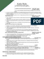 karlee ricks, professional resume 2015