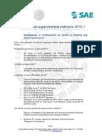 Desplegado Prueba de Supervivencia Ordinaria 2015-1 v1