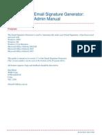 EmailSigGen Admin Guide