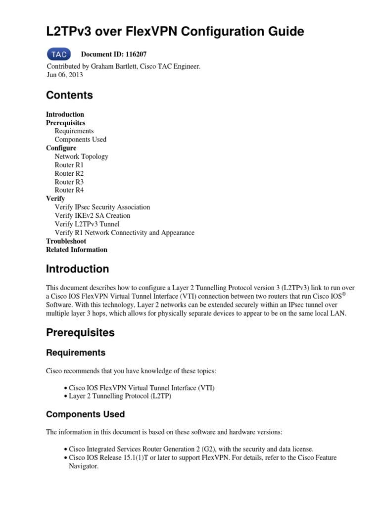 l2tpv3 | Router (Computing) | Internet Protocols