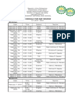 NAT Review Schedule