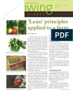 Lean Principles Applied to a Farm; Gardening Guidebook