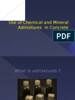 Use of Chemical and Mineral Admixtures in Concrete Ppt