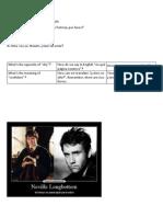 1º ESO Classroom Questions Unit 2