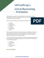 Numerical Reasoning Formulae