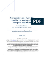 WHO - Temp and RH Monitoring Systems for Transport Operations