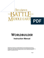 """The Battle for Middle-Earth"" WorldBuilder Manual"
